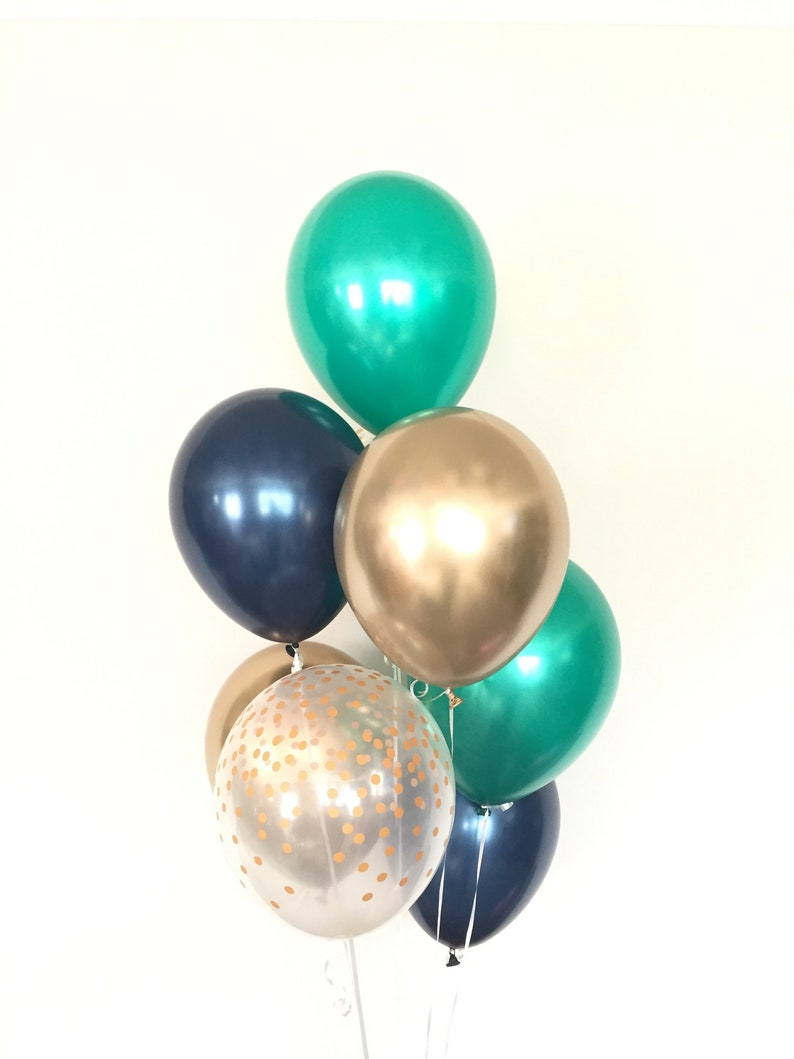 Green And Navy Balloons Birthday Little Man