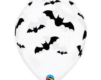 Bat Balloons | Bat Latex Balloons | Halloween Birthday Party Decor | Let's Get Batty Bridal Shower Decor | Hocus Pocus Balloons