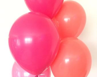 Pink and Coral Balloons | Lets Flamingle Bridal Shower Balloons | Cactus Balloons | Pink and Coral Bridal Shower Decor | Pink Balloons