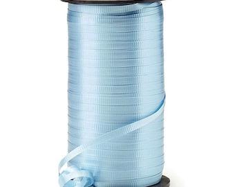 "Light Blue Balloon Ribbon | Blue Balloon String | Blue 3/16"" Crimped Curling Ribbon | Roll of Ribbon | Blue Ribbon | Blue Curling Ribbon"