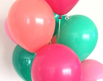 Lets Flamingle Balloons | Pink and Green Balloons | Lets Flamingle Bridal Shower Balloons | Cactus Balloons | Luau Bridal Shower