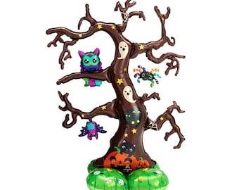 Halloween Balloons | Halloween Tree Balloon | Halloween Party Decor | Trick or Treat | Spooky Tree Halloween Decor | Kid's Halloween Party