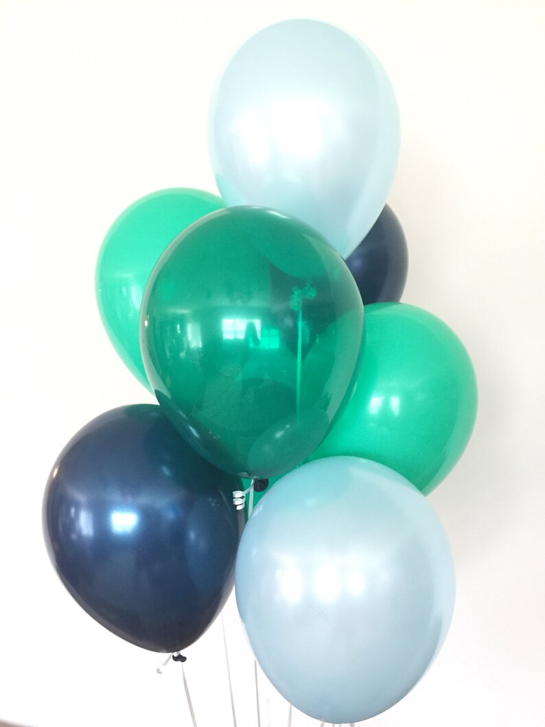 Green And Blue Balloons