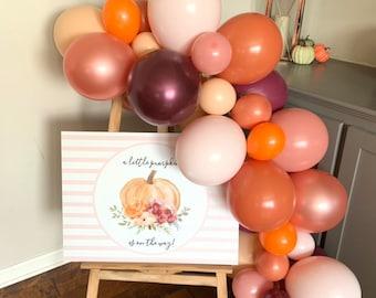 Blush Little Pumpkin Balloon Garland Kit | Little Pumpkin Baby Shower Decor | Fall Bridal Shower | A Little Pumpkin is on the Way