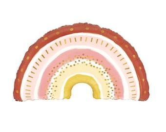 Boho Rainbow Balloons | Boho Birthday Party Decor | Rainbow Baby Shower Decor | Boho Baby Shower | Boho Rainbow Birthday Balloons