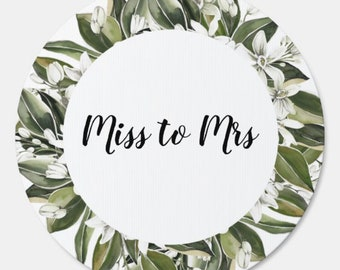 Miss To Mrs Sign | Miss To Mrs Bridal Shower | Greenery Bridal Shower Sign | Bridal Shower Welcome Sign | Balloon Garland Sign | Yard Sign
