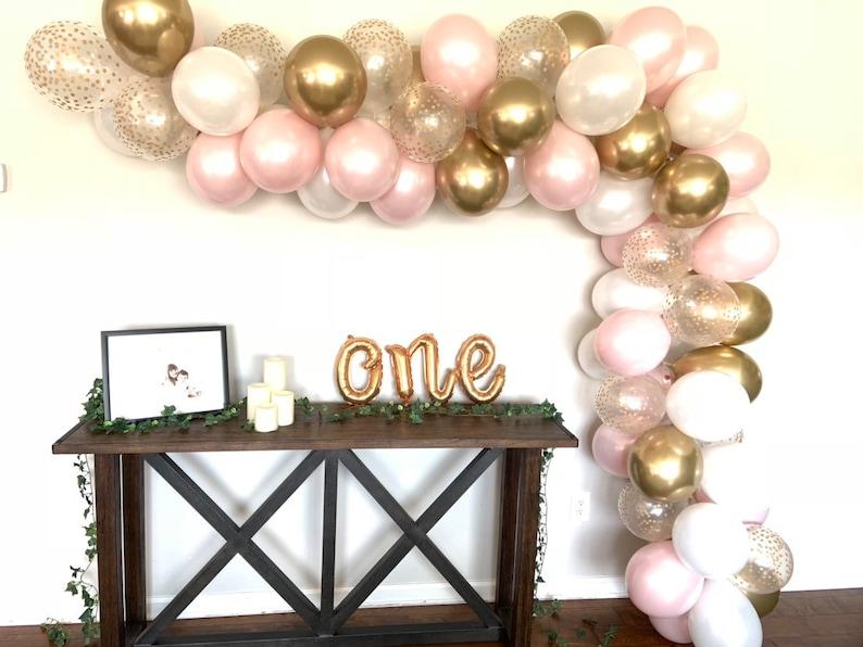 Pink Blush Balloon Garland DIY Kit  Pink Blush Bridal Shower image 0