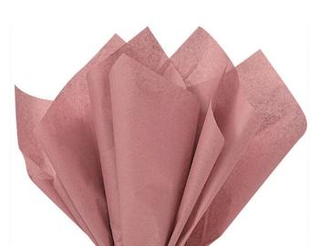 "Rose Gold Tissue Paper | 24 Sheets Rose Gold Tissue Paper | 20""x 30"" Tissue Paper Sheets | Rose Gold Party Decor | Rose Gold Gift Wrap"