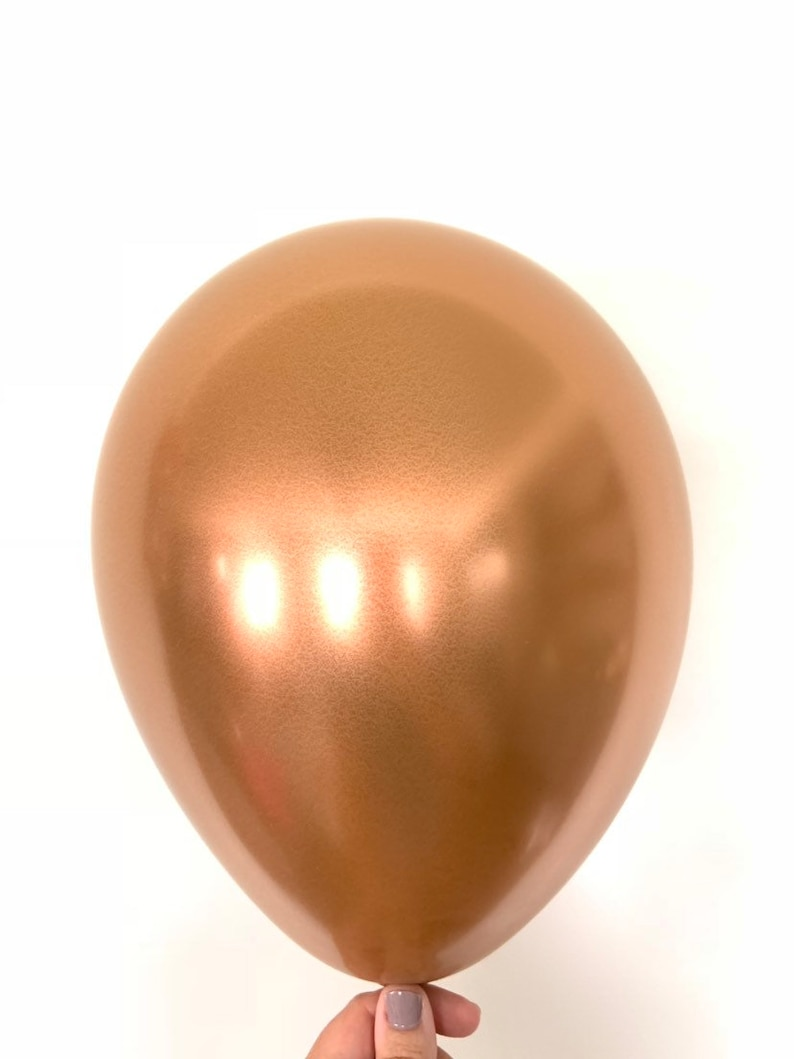 Copper Bridal Shower Decor Copper Latex Balloons Chrome Birthday Party Decor Fall Baby Shower Decor Chrome Copper Balloons