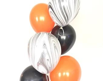 Halloween Balloons | Halloween Party Decor | Halloween Balloon Garland | Halloween Garland | Orange and Black Balloons | Boo Balloons