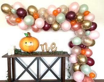 Fall Balloon Garland DIY Kit | Blush and Burgundy Bridal Shower Decor | Fall Baby Shower | Little Pumpkin First Birthday | Fall In Love