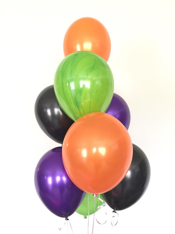 Halloween Balloons Halloween Party Decor Halloween Balloon Garland Halloween Garland Orange And Black Balloons Boo Balloons