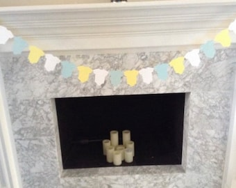 Yellow and Mint Baby Banner | Yellow Baby Garland | Gender Neutral Baby Shower Decor | Twins Baby Banner | Yellow and Blue