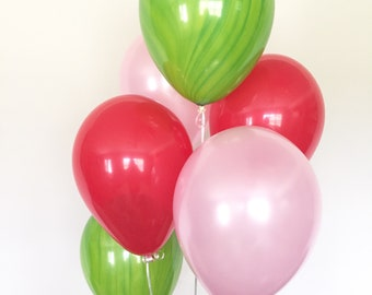 Watermelon Balloons | Watermelon Birthday Balloons | Summer Party Decor | Its Sweet To Be One Balloons