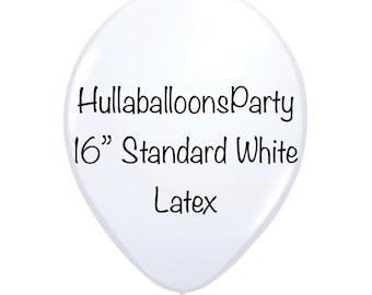 16 inch Standard White Balloons | White Latex Balloons | White Birthday Party | White Bridal Shower Decor | White Baby Shower
