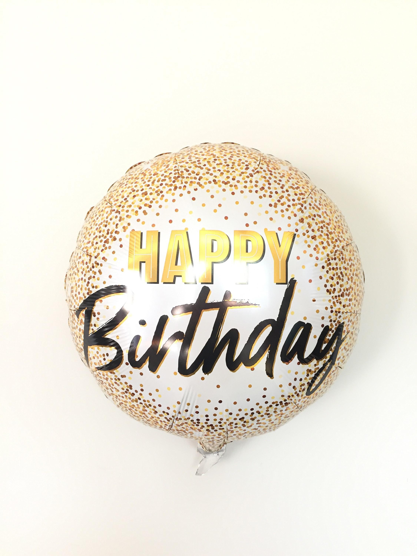 Happy Birthday Balloons Gold Birthday Party Decor Milestone