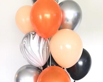 Halloween Balloons | Halloween Party Decor | Halloween Balloon Garland | Black and Blush Balloons | Orange and Black Balloons | Boo Balloons