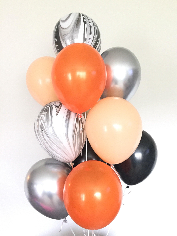 Halloween Balloons Halloween Party Decor Halloween Balloon Garland Black And Blush Balloons Orange And Black Balloons Boo Balloons