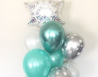 Baby It's Cold Outside Baby Shower Decor | Winter Baby Shower | Snowflake Balloons | Winter ONEderland Birthday Balloons