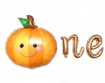 Little Pumpkin Balloons | Our Little Pumpkin Is One | Pumpkin First Birthday Banner | Little Pumpkin Birthday Party Decor | Fall First Birth