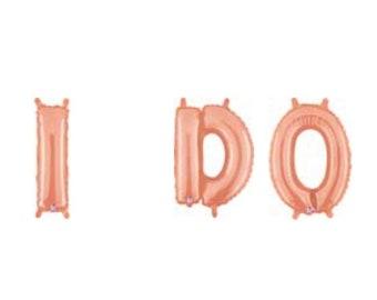 Rose Gold Wedding Balloons | I Do Balloons | Bridal Shower Balloons | Rose Gold Bridal Shower Decor |  Bridal Shower Brunch Banner