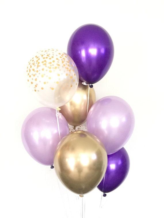 Wedding Balloons Birthday Balloons Baby Shower Balloons 8 Pearlized Lavender Balloons Girls Birthday Party Decor Latex Helium Balloons