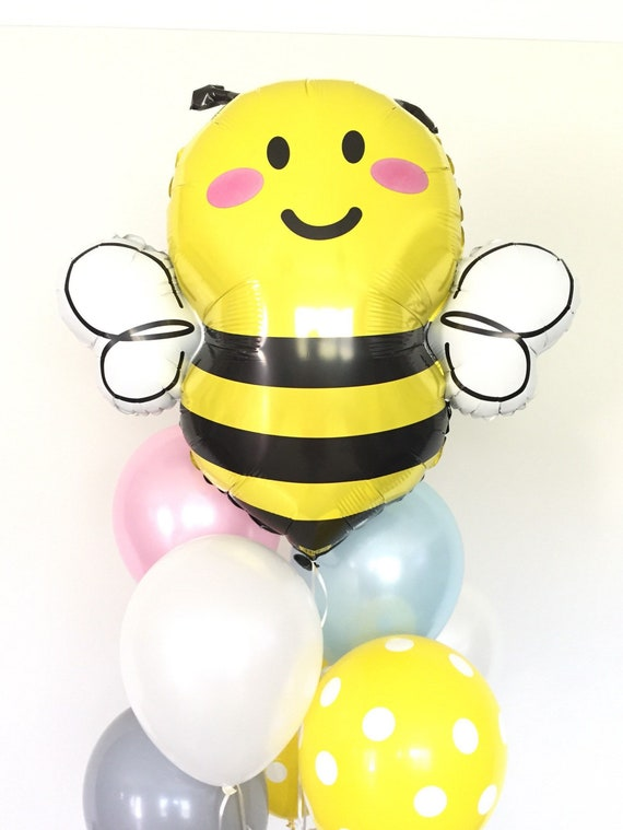 Bumble Bee Balloons Bumble Bee Baby Shower Decor Mommy To Etsy