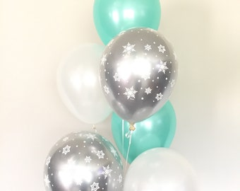 Baby It's Cold Outside Baby Shower Decor | Mint Winter Baby Shower | Mint Snowflake Balloons | Winter ONEderland Birthday Balloons