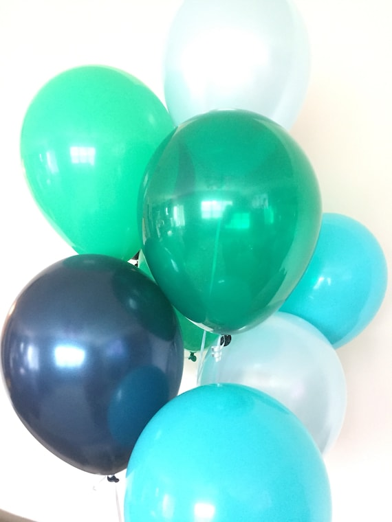 Green And Blue Balloons Little Man Boy Oh