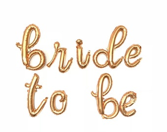 Bride To Be Balloons | Gold Bride To Be Banner | Gold Wedding Decor | Gold Bridal Shower Decor |  Bachelorette Party Decor | Gold Balloons