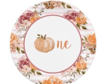 Little Pumpkin Plates Dessert | Our Little Pumpkin is One | Little Pumpkin First Birthday | Fall First Birthday Cake Plates