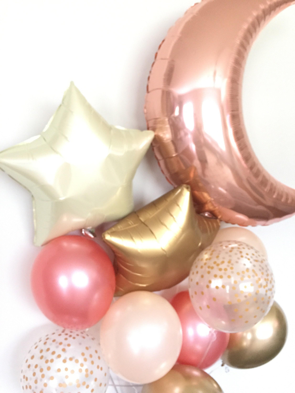 Twinkle Little Star Balloons Rose Gold Balloons Rose