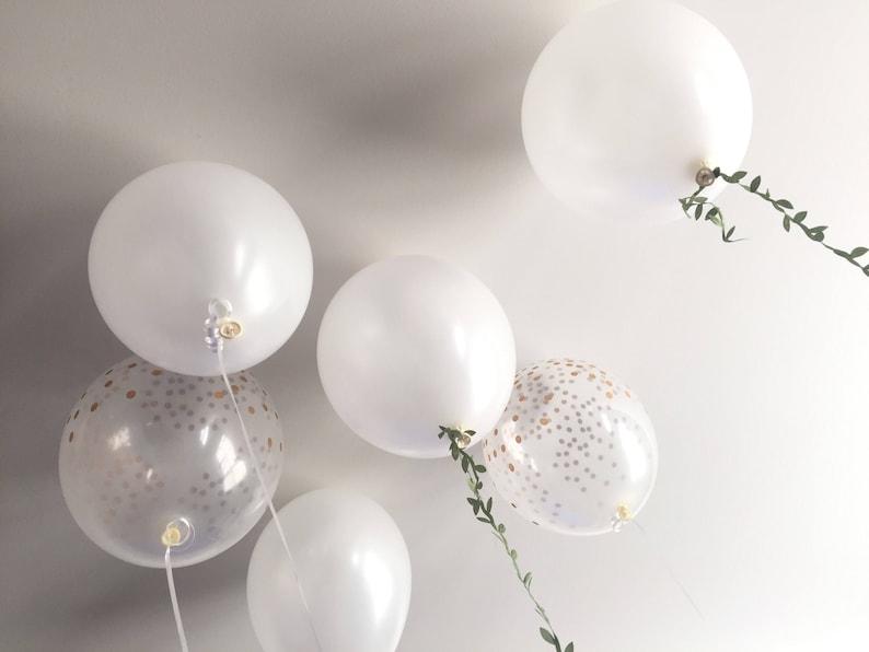 Foliage Balloons White Balloon Bouquet White Balloons Wedding Balloons White and Gold Balloon Bouquet Botanical Balloons