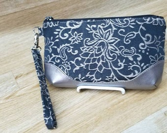 Laura -Z Clutch Large size Made in  outdoor  Fabric