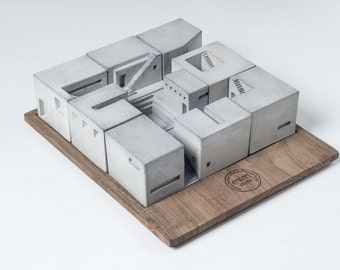 Miniature Concrete Homes (Set of Nine), maze, puzzle, special gift for creatives and designers
