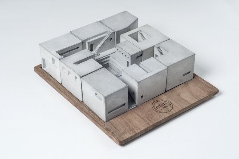 Spaces Set of Nine Concrete Architectural Model Brutalist image 1