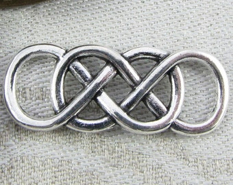 1 or 6, Chinese Knot Charm, Chinese Knot, Decorative Knot, Chinese Jie, Knotting Charm, Silver Knot, Knot Connectors, SYM040