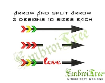 Arrow Embroidery Design Machine Embroidery Split Arrow Designs Embroidery Arrow File Download
