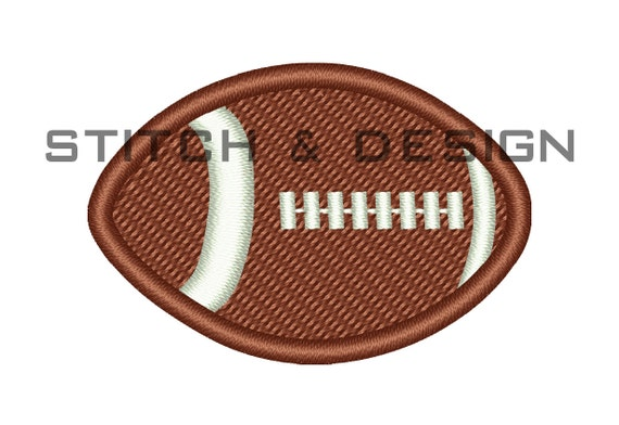 Mini Football Embroidery Design Sports Embroidery Designs Etsy