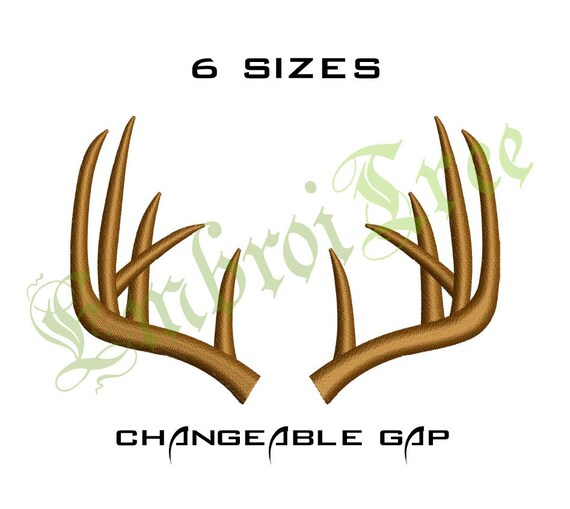 Antler Embroidery Design Machine Embroidery Antlers Monogram   Etsy