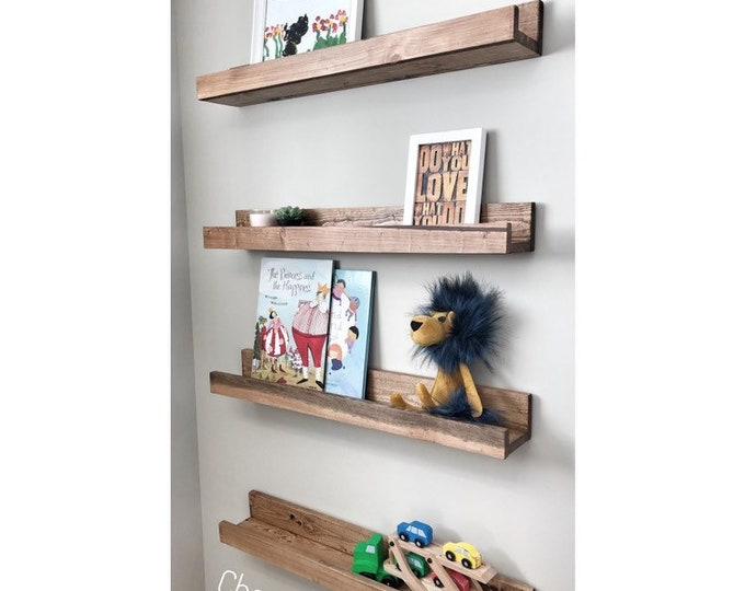 Set of 4, Gallery Wall Shelf, Nursery Shelf, Picture Ledge Shelf, Wooden Shelves, Rustic Kitchen Shelves, Bookshelves, Set of Floating Shelf
