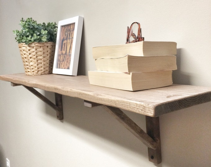 Rustic Wooden Picture Ledge Shelf, Gallery Wall Shelf, Rustic Floating Shelf, Wooden Shelf, Rustic Home Decor, Gallery Wall Decor, Gallery
