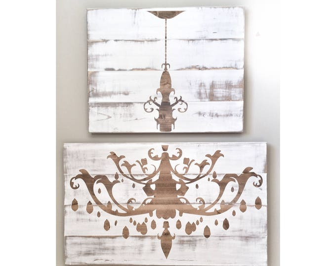 Huge Rustic Distressed White Wood Chandelier, Rustic Decor, Farmhouse Decor, Rustic Dinning Living Room Decor, Wall Decor, Rustic Wood Sign