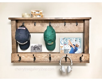 Wall Storage, Baseball Cap Rack, Hat Rail, Coat Hanger, Baseball Cap Holder, Sports Organize, Teenager Room, Front Entrance Hook Rack