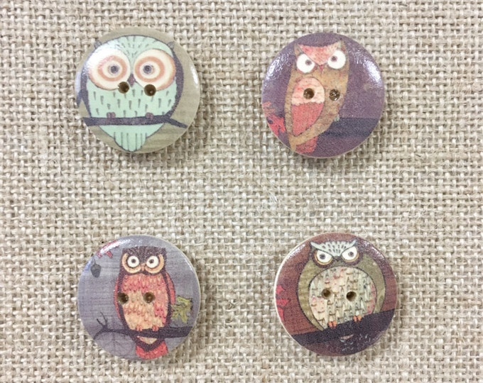 Wooden Rustic Decorative Magnetic Buttons - office home nursery wall decor note photo picture holder