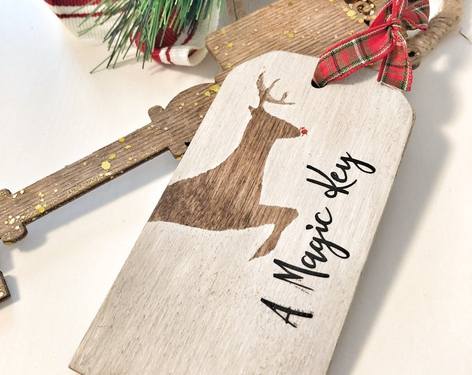 Santas Magic Key Keepsake, Personalized Christmas Gift,  Family Holiday Keepsake Tradition, Santa Claus Key, Kids Magic Key for Santa