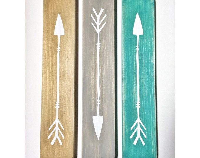 Rustic White Wooden Arrows - 3 Piece Set, Rustic Decor, Farmhouse Decor, Arrow Decor, Rustic Nursery Decor, Gallery Wall Decor, Wooden Arrow