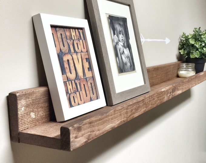 Picture Ledge Wall Shelf, Ledge Shelf, Nursery Shelf, Picture Shelf, Wooden Shelves, Rustic Shelves, Bookshelves, Floating Shelves Display