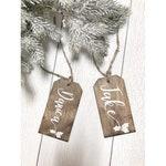 Personalised Christmas Stocking Name Tags, Personalized Gift Tags, Personalized Stocking Name Tags, Stocking Tags, Wood Name Gift Tags