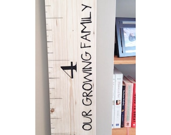 Giant Growth chart ruler, ruler to measure kids, Huge Measuring Stick, Growing Height Chart, Wood Growth Ruler, Kitchen Chart, Baby Gift